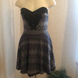 Free People Twinkle and Twirl Dress in Blue